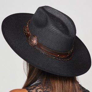 NWT Stampede Boho Festival Belted Concho Brim Hat